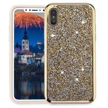 Voor iPhone X Diamond serie galvaniseren PC TPU beschermende Case (goud)