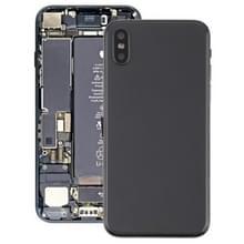 Batterij terug dekken vergadering met kant sleutels & Vibrator & Loud spreker & / uit-knop + Volume knop Flex kabel & kaart lade & batterij zelfklevende voor iPhone X(Black)
