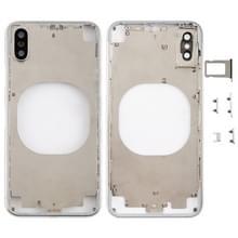 Transparante achtercover met camera lens & SIM-kaart lade & Zijkleutels voor iPhone X (wit)