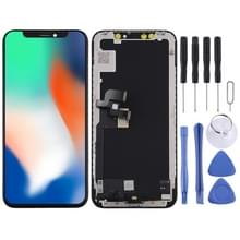 Hard OLED-materiaal LCD-scherm en Digitizer Full Assembly voor iPhone X(Zwart)
