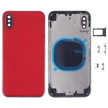 Achterkant Behuizing Cover met SIM Card Tray & Side keys voor iPhone X(Rood)