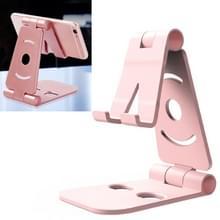 WQ-02 opvouwbare creatieve luie beugel telefoon houder (roze)