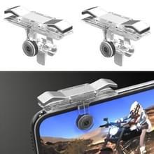 E9 Legering pers eet kip mobiele telefoon Trigger schieten Controller knop handvat (zilver)