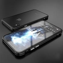 Voor iPhone X metaal Shockproof beschermende Bumper Frame(Black)