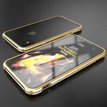 Voor iPhone X metaal Shockproof beschermende Bumper Frame(Gold)