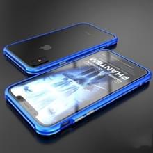 Voor iPhone X metaal Shockproof beschermende Bumper Frame(Blue)