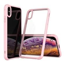 Transparante acryl + TPU airbag schokbestendig Case voor iPhone XS Max (roze)