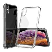 Transparante acryl + TPU airbag schokbestendig Case voor iPhone XS Max (transparant)