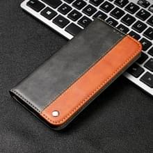 Business effen kleur stiksels horizontale Flip lederen case voor iPhone XS Max  met houder & kaartsleuven & portemonnee & Lanyard (bruin)