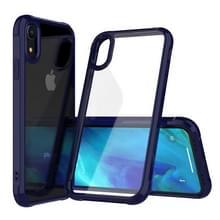 Transparante acryl + TPU airbag schokbestendig Case voor iPhone XR (blauw)