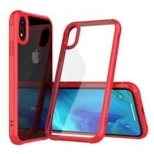 Transparante acryl + TPU airbag schokbestendig Case voor iPhone XR (rood)