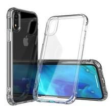 Transparante acryl + TPU airbag schokbestendig geval voor iPhone XR (transparant)