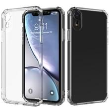 Schokbestendige achthoekige airbag Sound Conversion hole ontwerp TPU Case voor iPhone XR (transparant)