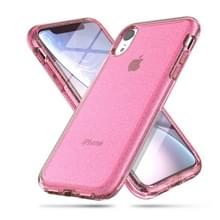Schokbestendige Terminator stijl glitter poeder beschermer Case voor iPhone XR (roze)