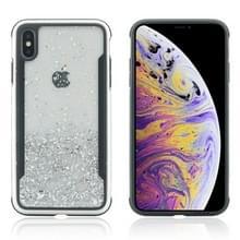 Glitter poeder TPU Case voor iPhone XR (zilver)