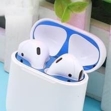 Metalen stofdichte sticker voor Apple AirPods 2 (draadloos opladen) (blauw)