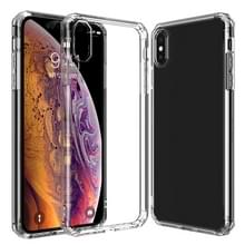 Schokbestendige achthoekige airbag Sound Conversion hole ontwerp TPU Case voor iPhone XS/X (transparant)