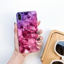Volledige dekking glanzend marmer textuur schokbestendig TPU Case voor iPhone X/XS