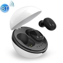 A10 TWS Space capsule vorm draadloze Bluetooth oortelefoon met magnetische Oplaaddoos & Lanyard  ondersteuning HD Call & automatisch koppelen Bluetooth (wit + zwart)