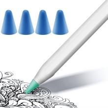 4 STKS antislip Mute slijtvaste NIB cover voor Apple pencil 1/2 (donkerblauw)