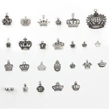 25-in-1 Tibetaanse Zilveren armband accessoires exquise kroon Pendant Set