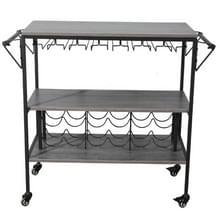 [Amerikaans pakhuis] Drie lagen metalen München Bar Cart met wijnrek  grootte: 95x40.5x83cm