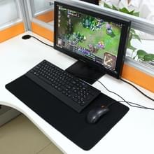 Extended Large Solid Black Color Gaming and Office Keyboard Mouse Pad  Size: 60cm x 30cm