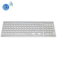 K368 Dual modus Dual Channel 102 toetsen draadloos Bluetooth-toetsenbord voor Laptop  Notebook  Tablet en Smartphones  ondersteuning Android / iOS / Windows of een bijgewerkt Version(Silver)