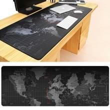 Uitgebreide grote antislip wereld kaart patroon zachte Rubber gladde doek oppervlakte Game Pad toetsenbord muismat  grootte: 70 x 30 cm