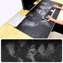 Uitgebreide grote antislip wereld kaart patroon zachte Rubber gladde doek oppervlakte Game Pad toetsenbord muismat  formaat: 80 x 30 cm