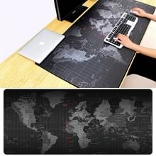 Extended Large Anti-Slip World Map Pattern Soft Rubber Smooth Cloth Surface Game Mouse Pad Keyboard Mat  Size: 60 x 30cm