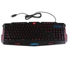 M200 Multimedia USB 114 Keys Wired 3-color Backlight Gaming Keyboard for Computer PC Laptop(Black)