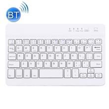 Draagbaar Bluetooth draadloos toetsenbord  compatibel met 10-inch tablets met Bluetooth-functies (wit)