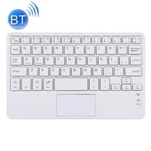 Bluetooth draadloos toetsenbord met touch panel  compatibel met alle Android & Windows 10 inch tablets met Bluetooth-functies (wit)