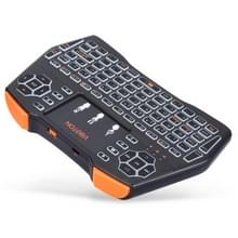 VIBOTON i8 Plus 2 4 GHz draadloze 3-kleuren achtergrondverlichting toetsenbord met muis Touchpad voor Android TV Box Laptop PC