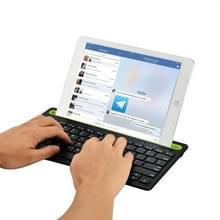 B908 Ultra-slanke 78 toetsen Bluetooth draadloos toetsenbord met holle GSM houder (zwart)