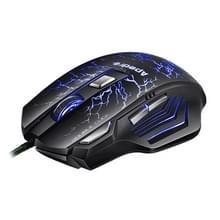 Apedra iMICE A7 hoge precisie 3200 DPI Gaming Muis met 7 knoppen en LED verlichting voor PC & Laptop (zwart)