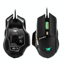 Combatwing CW90 RGB Lights Programmable 6 Buttons 3800 DPI Wired Gaming Mouse Mice for Computer PC Laptop Macbook (Black)