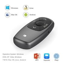 Doosl DSIT011 2.4GHz Mini Rechargeable PowerPoint Presentation Remote Control  Control Distance: 100m(Black)