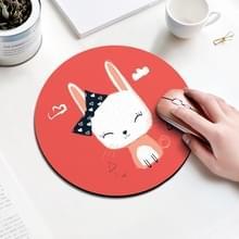 Boog konijn patroon circulaire muismat  diameter: 22cm