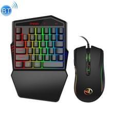 HXSJ K88 Bluetooth 4 2 mobiel spel draadloos toetsenbord + bedrade muis set