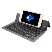 F18 Ultra-slim Oplaadbare opvouwbare 58 sleutels bluetooth draadloos toetsenbord met houder (grijs)