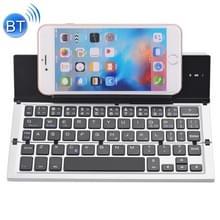 GK608 Ultra-thin opvouwbare Bluetooth V3.0 toetsenbord  ingebouwde houder  ondersteuning Android / iOS / Windowssysteem (grijs)