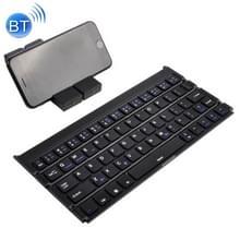 GK808 Ultra-thin opvouwbare Bluetooth V3.0 toetsenbord  ingebouwde houder  ondersteuning Android / iOS / Windowssysteem (zwart)