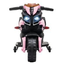 [Het Pakhuis van de V.S.] LEADZM LZ-919X 6V 4.5AH Small Ride-on Elektrische Motorfiets Kinderen Speelgoed met LED Koplampen & Hoorn & Auto Simulatie Geluid & Muziek (Roze)