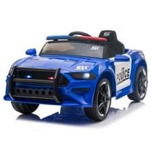 [Amerikaans pakhuis] LQ 12V Kids Ride On Car Police Double Drive 2 4 GHz Afstandsbediening Sportwagen met LED-verlichting & Sirene & Microfoon(Blauw)