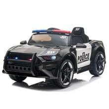 [Amerikaans pakhuis] LQ 12V Kids Ride On Car Police Double Drive 2 4 GHz Afstandsbediening Sportwagen met LED-verlichting & Sirene & Microfoon(Zwart)