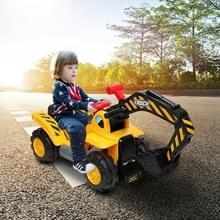 [Amerikaans pakhuis] Kids Children Electric Car Graafmachine Speelgoed (Geel)