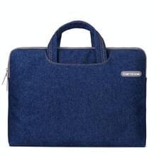 Cartinoe Jean serie 12 inch draagbare Laptoptas voor MacBook, Lenovo en andere Laptops, Interne afmetingen: 32 x 21 x 2.5 cm (blauw)