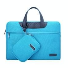 Cartinoe Business serie 12 inch draagbare Laptoptas met onafhankelijk tasje voor voedingsadapter, geschikt voor MacBook, Lenovo en andere laptops, Interne afmetingen: 28 x 17 x 3 cm (blauw)